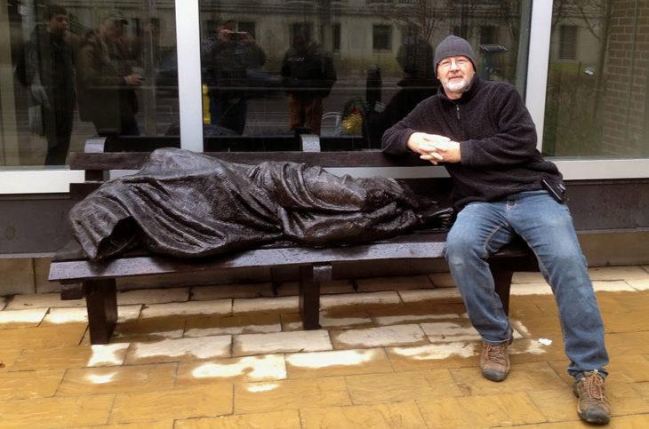 The Homeless Jesus statue