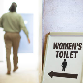 The Man in the Women's Room, and Why He Can Stay There.